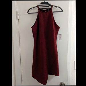 NWT Burgundy Suede Cocktail Dress